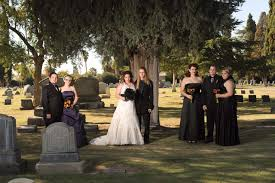 halloween wedding party cemetery weddings an alternative wedding venue and on the increase