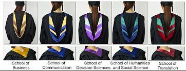 academic regalia academic regalia specifications hang seng management college