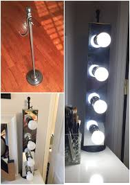 diy freestanding vanity lighting diy projects by nina