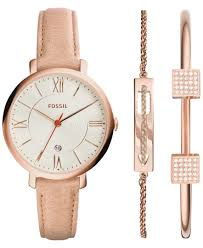 fossil steel leather bracelet images Fossil women 39 s jacqueline light brown leather strap watch 36mm 2 jpg