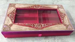 Indian Wedding Mithai Boxes Buy Decorative Mithai Box From Rishabh Enterprises Delhi India