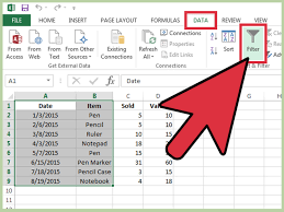 How To Do Excel Spreadsheets How To Use Autofilter In Ms Excel 7 Steps With Pictures