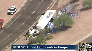 bud light truck driving jobs bud light truck involved in tempe crash video abc15 arizona
