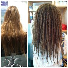 hairstyles after dreadlocks before and after dread installation at g spot hair design