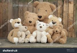 group cute teddy bears sitting together stock photo 151639355