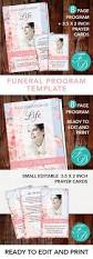 173 best for women funeral program templates images on pinterest