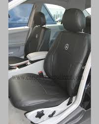 mercedes c class w203 black leatherette seat covers car seat