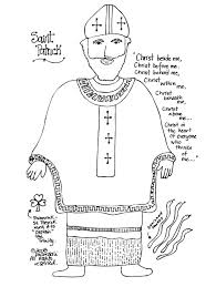 saint coloring page paper dali saint patrick free coloring page and unit study