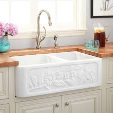 double bowl farmhouse sink with backsplash 36 ivy polished marble 60 40 offset double bowl farmhouse sink in