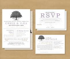 Post Card Invites Tree Roots Wedding Invitation And Rsvp Card By Henandco On Etsy