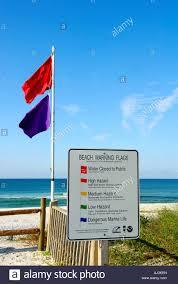 Pensacola Flag Florida Beach Warning Flag Sign Stock Photo Royalty Free Image