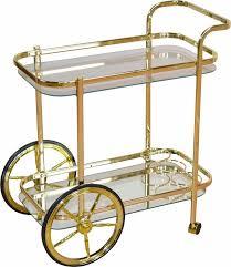 servierwagen küche home affaire servierwagen aus stahlrohr mit 2 rädern und 2 rollen