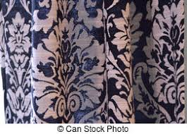 Black And White Damask Curtain Stock Photography Of Curtain Or Drapes Black Background