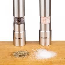 nuvita stainless steel salt and pepper mills sleek design grinders