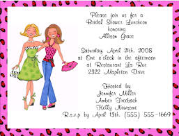 invitation to brunch wording bridal shower luncheon invitations