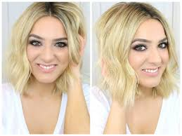 lob long bob waves hair tutorial youtube