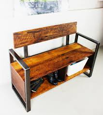 Front Hall Bench by Wood Storage Bench Crowdbuild For