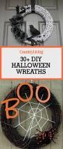 cute halloween wreaths 30 diy halloween wreaths how to make halloween door decorations