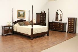 Harden Bedroom Furniture by Sold Harden Cherry Vintage Queen Size Poster Bed Harp Gallery