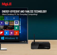 mini pc de bureau fanless windows 10 mini pc de bureau mele pcg03 apo 4 gb 32 gb