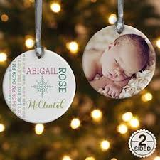First Christmas Personalized Ornaments - baby u0027s first christmas personalized ornament in collaboration with