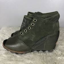 womens size 12 casual boots sorel womens sorel leather wedge casual bootie size 12 from
