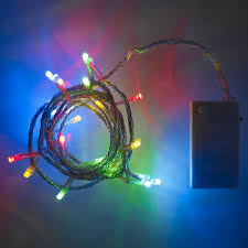 outdoor battery fairy lights 20 led multi coloured battery operated fairy lights lights4fun co uk