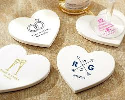 wedding favor coasters personalized coasters for wedding favors personalized heart shaped