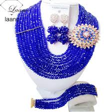 jewelry set laanc 10 rows 6mm popular necklace earrings