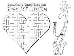 printable valentine u0027s day activity sheets for kids coloring pages