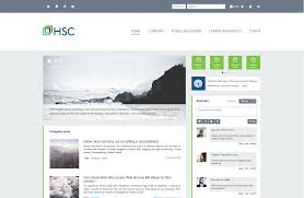 clean simple to navigate layout intranet inspiration