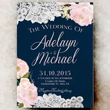 blue wedding invitations navy blue wedding invitations kawaiitheo