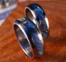 mens wedding bands titanium wedding rings titanium wood rings wood ring blue ring mens we