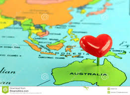 Pin World Map by World Map With Destination Pin Australia Stock Photo Image 35684720