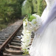 wedding bouquets cheap cheap 2017 white new arrival handmade flowers cheap wedding