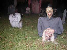 scary halloween yard decorations