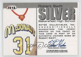 2004 05 sage autographed basketball authentic jersey silver