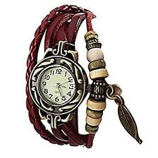 light in the box weave lightinthebox women s watch bohemian leaf pendent charm leather