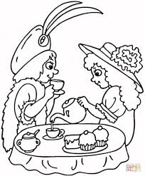 tea party coloring page free printable coloring pages throughout