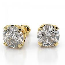 gold diamond stud earrings diamond stud earrings classic 2 3 carat 0 60ct cut