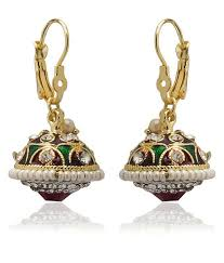 gujarati earrings utsokt maroon green and white gujarati style earrings buy