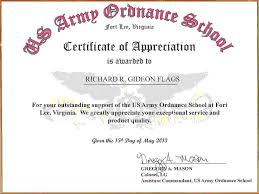 army certificate of achievement template money lending
