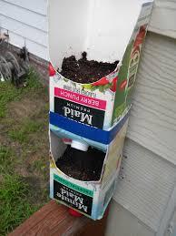 easy vertical garden idea with juice cartons anna banana goes