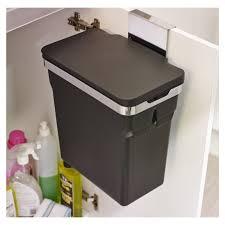 simplehuman in cupboard bin 10l black amazon co uk kitchen u0026 home