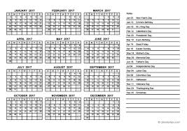 2017 yearly calendar pdf free printable templates