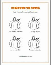 free fall printables kids pumpkin coloring pages u0026