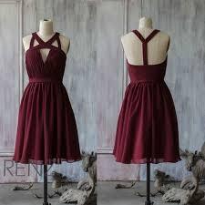 a linie v ausschnitt kurz mini chiffon brautjungfernkleid mit rusche p549 25 süße rote formale kleider ideen auf kurze rote