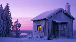 Winter Houses Winter House Night Wallpaper Cabin Frost Houses Snow Sweden Idolza