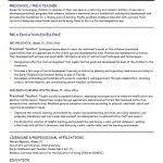 Preschool Teacher Resume Template Preschool Teacher Resume Template Teacher Resume Samples Writing