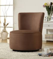 Swivel Armchairs For Living Room Brown Swivel Armchair For Living Room Mixed Floating White Console